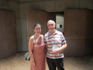 Helen with acclaimed UK composer Michael Finnissy